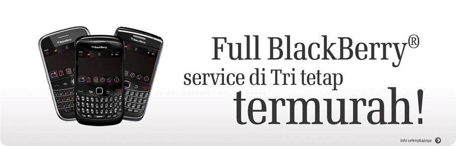 Tri Paket Blackberry Murah Produk Java Pulsa