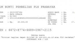 Cara Cetak Struk Token PLN Java Pulsa